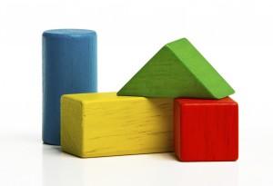 Le bonheur selon Nina-construire avec ses blocs